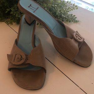 Thierry Rabotin open back heel luxury shoe